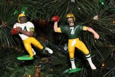 GREEN BAY PACKERS CHRISTMAS ORNAMENT SET OF 2 STERLING SHARPE & DON MAJKOWSKI