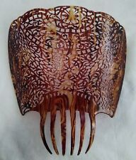 Enormous Spanish faux tortoise shell Mantilla 11x11 inches nice!!!