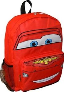 "Disney Pixar Cars McQueen 12"" Big Face School Bag Backpack"