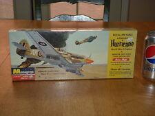 WW#2, BRITSH, HAWKER HURRICANE, FIGHTER PLANE, PLASTIC MODEL KIT, Scale 1/48