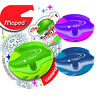 Maped Pencil Sharpener Galactic - 1 Hole Cannister Sharpener, Assorted Colours