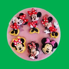 MINNIE MOUSE SET SILICONE MOULD FOR CAKE TOPPERS, CHOCOLATE, CLAY ETC