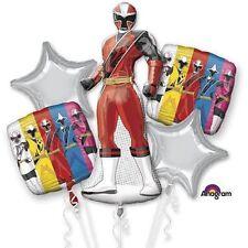 Saban's Power Ranger Happy Birthday Party Favor 5CT Foil Balloon Bouquet