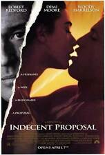 INDECENT PROPOSAL Movie POSTER 27x40 Robert Redford Demi Moore Woody Harrelson