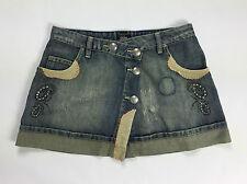 Parasuco cult jeans gonna minigonna size 28 taglia 42 skirt studs woman usato
