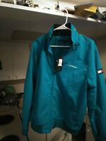TOMMY HILFIGER spell out color block  Men's Yacht Jacket Water Stop Windbreaker