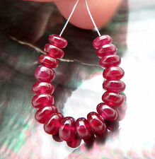 18 RARE BEAUTIFUL AAAAA AFRICAN 3.3-4mm CHERRY RED RUBY BEADS 6.40cts VIBRANT