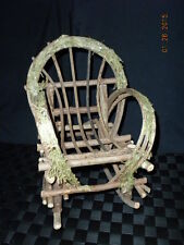 Midwest Wooden Rocking Chair With Faux Moss Trim
