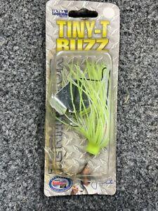 New Terminator  Tiny T Buzzbait 1/8oz NIP BASS FISHING  Buzz Bait Chartreuse wht