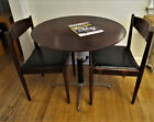 Rosewood Coffee Dining Chess Table & 2 Chairs Bramin Denmark Mid-century Modern