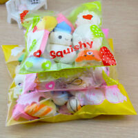 20PCS Cute Mini Randomly Squishy Charms Soft Panda/Bread/Cake/Buns Phone Straps