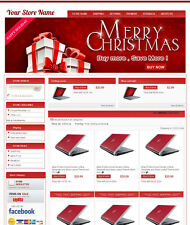 eBay Professional Design Listing Template and Store Layout Theme Red-christmas