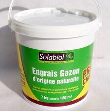 Engrais gazon d'origine naturelle, 7kg jusqu'à 120m², Solabiol