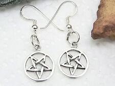 Kleine Pentagramm Ohrringe 925 Silber Ohrhänger Drudenfuss