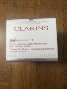 CLARINS MULTI ACTIVE NUIT REVITALIZING CREAM FOR NORMAL TO DRY SKIN 1.6 oz /50ml