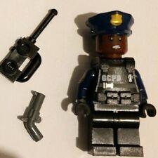 Genuine Lego DC GCPD Officer Swat gear Minifigure  from Batman set 70915 sh417