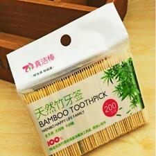 200pcs/Bag Wood Bamboo Stick Picks Party Food Appetizer Toothpicks D
