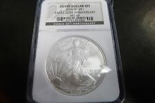 2006 W SILVER EAGLE 20TH ANNIVERSARY GRADED BY NGC MS 69