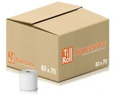 More details for 20 rolls 80x70 (80x80 fit) thermal till roll for epos terminals | fast n free