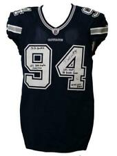 Demarcus Ware Autographed Dallas Cowboys Game Issued Blue Jersey JSA 13737