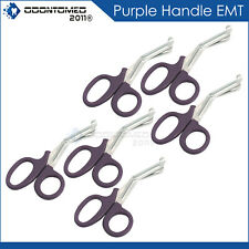 6 Purple Utility Scissors Emtems Shears Bandage Paramedic Nurse Supplies 725