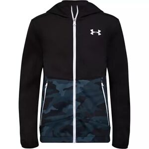 NWT Boys Under Armour Camouflage Print Soft Zip-Front Jacket Size: 7