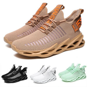 Mens Casual Running Walking Trainers Jogging Gym Shoes Athletic Sneakers Soft