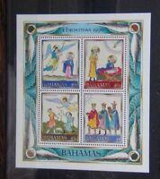 Bahamas 1990 Christmas Miniature Sheet MNH