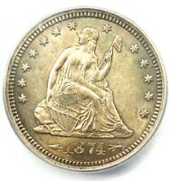 1874-S Arrows Seated Liberty Quarter 25C - ICG MS64 (BU UNC) - $1,920 Value!