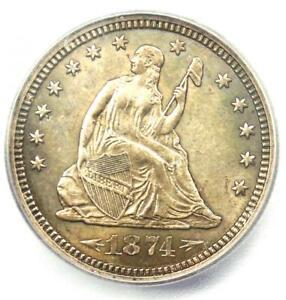 1874-S Arrows Seated Liberty Quarter 25C - ICG MS64 (BU UNC) - $1,920 Value!