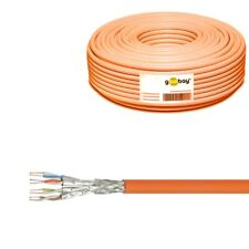 Goobay Cat 7a Network Cable S/ftp (pimf) Orange 100 M - cu AWG 23/1 (solid)