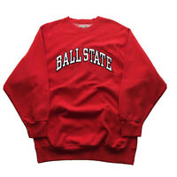 Vintage 90s College Sweatshirt Mens L/XL Ball State University Indiana Spell Out
