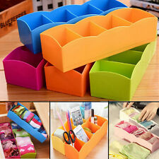 1 X Plastic Organizer Storage Box for Tie Bra Socks Drawer Cosmetic Divider Hot