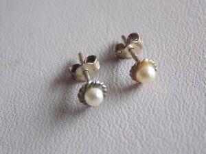 Teeniest Tiniest Pearl Stud Earrings for Pierced Ears