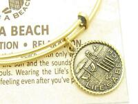 Wind & Fire Life's A Beach Gold Charm Wire Bangle Stackable Bangle Bracelet Gift