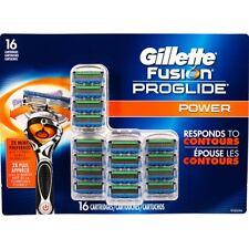 16 GILLETTE FUSION Proglide Power Blades Cartridge Refill ft Flexball Razor 4 8