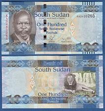 Sur de sudán/southsudan 100 pounds (2011) UNC p. 10
