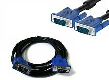 5Ft 15 pin Vga Svga male to male M/M monitor video cable for Pc Laptop Tv Blue