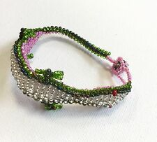 Bracelet Beaded Lizard design from Guatemala Handmade wristband Fair Trade Git