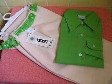 NEW Girls Size 10 Shirt & Pants(Green Lng/Slve & Cream Zip-Front Pants & Undies)