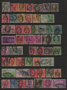 US Duplex Numeral Cancel Collection of All Different Stamps or Cancels