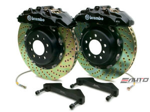 Brembo Front GT Brake 8pot Blk 380x34 Drill Escalade 02-06 Chevy GMC 1500 00-06