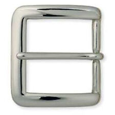 "Square Heel Bar Buckle Solid Brass Nickel Plate 1-1/2"" 1550-02"