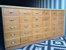 More details for bank of haberdashery drawers 205 x 99 x 63 cm 30 drawers fabulous condition