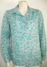 """LILLY PULITZER PULL OVER FLORAL SHIRT POLYESTER SIZE 8 Vintage 1960's """"THE LILLY"""