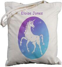 Personalizado White Unicorn-Algodón Bolso Tote