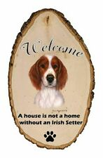 Outdoor Welcome Sign (Tb) - Irish Red and White Setter 51161