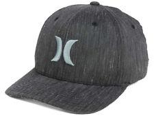 HURLEY - BLACK SUITS - FLEX FIT STRETCH HAT - GRAPHITE - SMALL-MEDIUM S/M - NWT