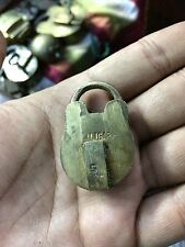 Vintage Old Aligarh 5 Levers Handcrafted Brass Miniature Padlock Original Key