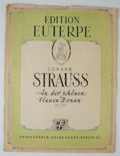 Edition Euterpe Johann Strauss An der schönen blauen Donau Noten Piano B3959